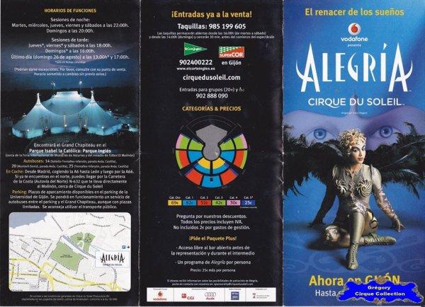 Flyer du Cirque du Soleil-2007 (n°1148)