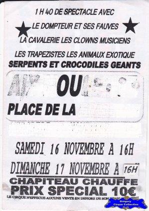 Flyer du Cirque Italiano (Cirque Italiano) (n°1078)