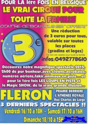 Flyer du Cirque Franco Belge-2015 (n°1195)