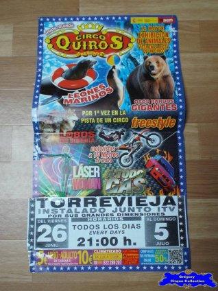 Affiche magasin du Circo Quiros-2015 (n°562)