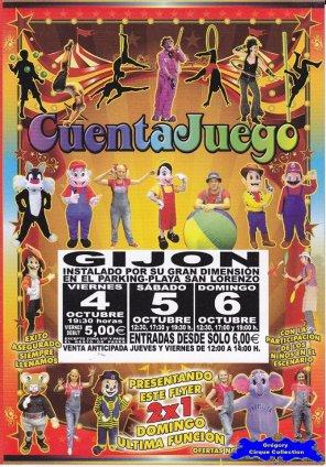 Flyer du Circo CuentaJuego (n°1101)