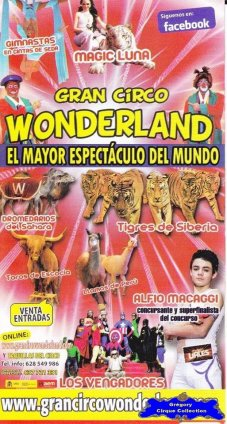 Flyer du Gran Circo Wonderland-2013 (n°1111)
