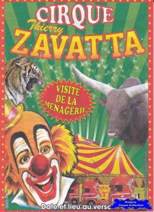 Flyer du Cirque Zavatta (Thierry)-2014 (n°1227)