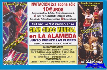 Flyer du Gran Circo Mundial-2013/2014 (n°1152)
