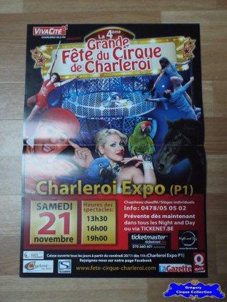 Affiche magasin de La Grande Fête du Cirque de Charleroi-2015 (n°556)