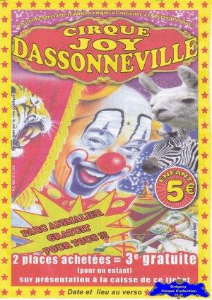 Flyer du Cirque Joy Dassonneville (n°1073)