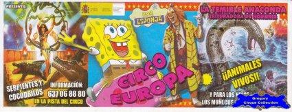 Flyer du Cirque Europa (Circo Europa) (n°1145)