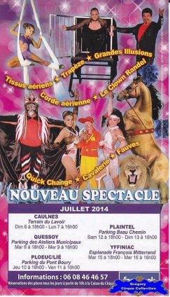 Flyer du Cirque Gervais-2014 (n°1241)
