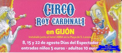 Flyer du Cirque Cardinali (Roy)-2013 (n°1140)