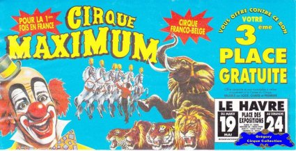 Flyer du Cirque Maximum (n°1235)