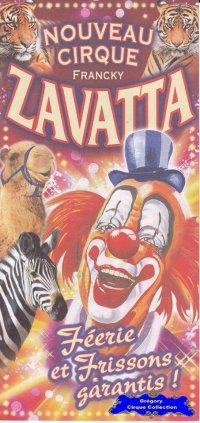 Flyer du Cirque Zavatta (Nouveau Cirque Francky Zavatta)-2014 (n°1232)