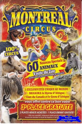 Flyer du Montreal Circus (n°1213)