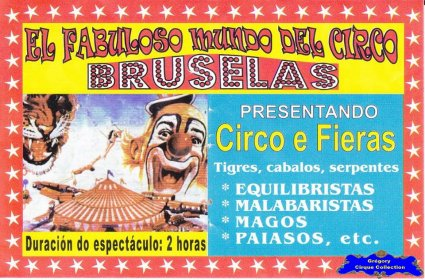 Flyer du Circo Bruselas-2014 (n°1135)