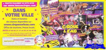 Flyer du Grand Cirque sur l'Eau -2014 (n°1215)