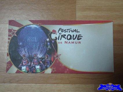 Enveloppe du Festival du Cirque de Namur-2015