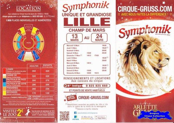 Flyer du Cirque Gruss (Arlette)-2013 (n°1210)