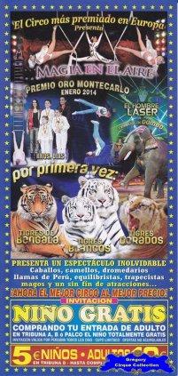 Flyer du Gran Circo Alaska-2014 (n°1143)