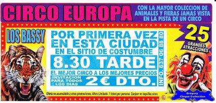 Flyer du Cirque Europa (Circo Europa) (n°1098)