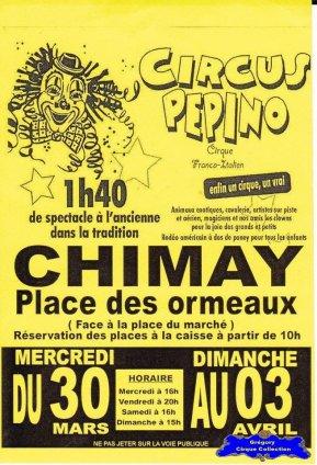 Flyer du Circus Pepino (n°1205)