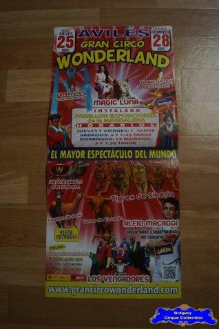 Affiche magasin du Gran Circo Wonderland-2013 (n°547)