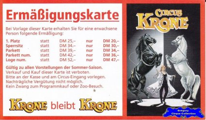 Flyer du Circus Krone (n°1088)