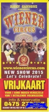 Flyer du Wiener Circus-2015 (n°1200)