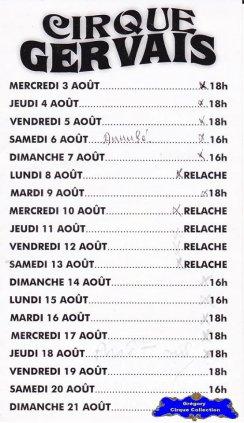 Flyer du Cirque Gervais-2011 (n°1243)