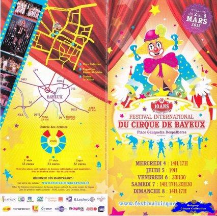 Flyer du Festival International du Cirque de Bayeux-2015 (n°1212)
