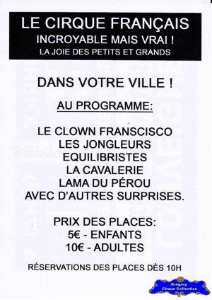 Flyer du Cirque Français (Le Cirque Français) (n°1204)
