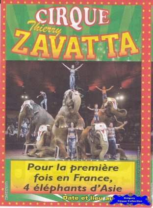 Flyer du Cirque Zavatta (Thierry)-2014 (n°1228)