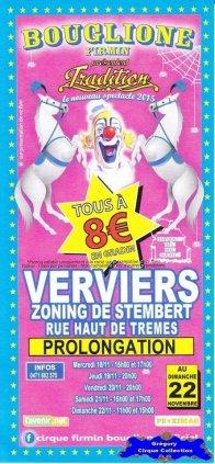 Flyer du Cirque Bouglione (Firmin)-2015 (n°1186)