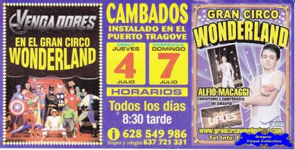 Flyer du Gran Circo Wonderland-2013 (n°1114)