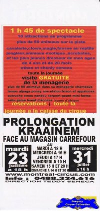 Flyer du Montreal Circus (n°1206)