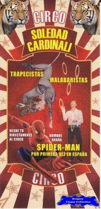 Flyer du Cirque Cardinali (Soledad)-2012 (n°1116)