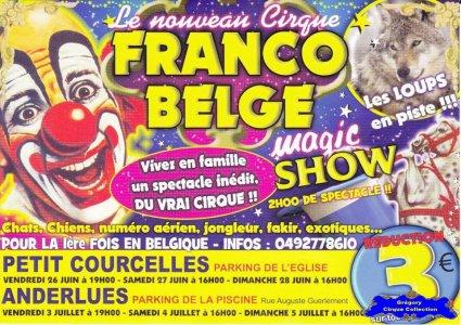 Flyer du Cirque Franco Belge-2015 (n°1191)