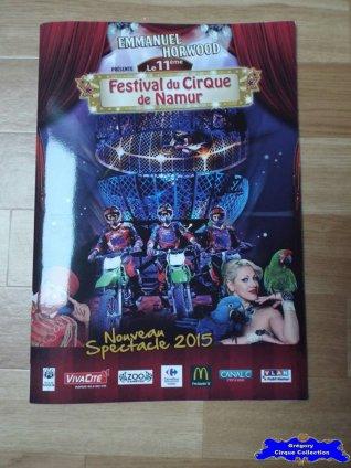 Programme du Festival du Cirque de Namur-2015 (n°110)