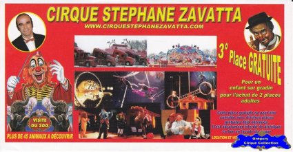 Flyer du Cirque Zavatta (Stephane) (n°1229)