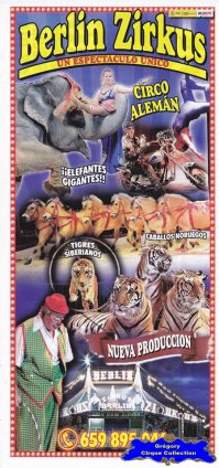 Flyer du Berlin Zirkus-2014 (n°1124)