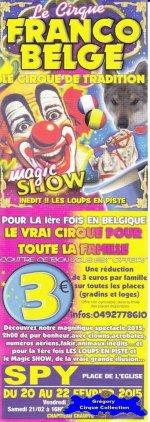 Flyer du Cirque Franco Belge-2015 (n°1188)