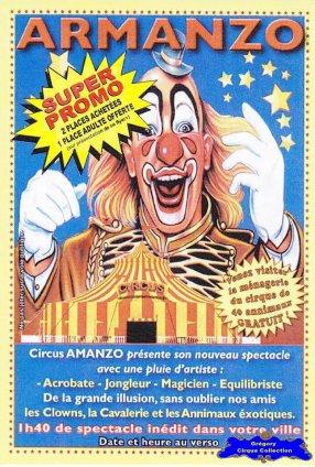 Flyer du Circus Armanzo-2015 (n°1203)