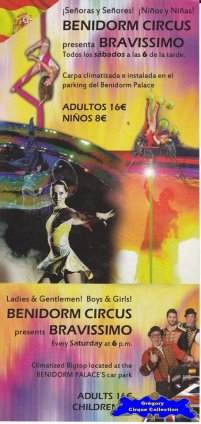 Flyer du Benidorm Circus (n°1131)