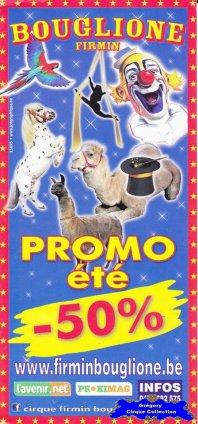 Flyer du Cirque Bouglione (Firmin)-2015 (n°1181)