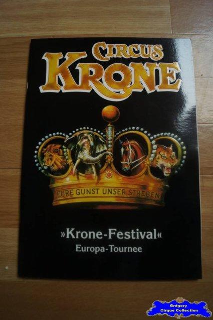 Programme du Circus Krone-2001 (n°108)