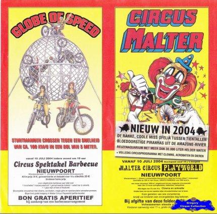 Flyer du Circus Rose-Marie Malter-2004 (n°1198)