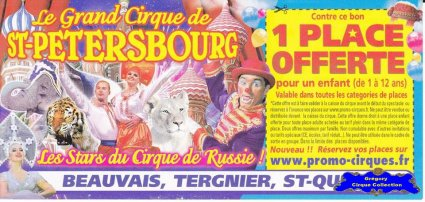 Flyer du Grand Cirque de Saint Pétersbourg-2013 (n°1216)