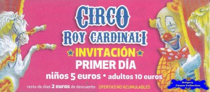Flyer du Cirque Cardinali (Roy) (n°1141)
