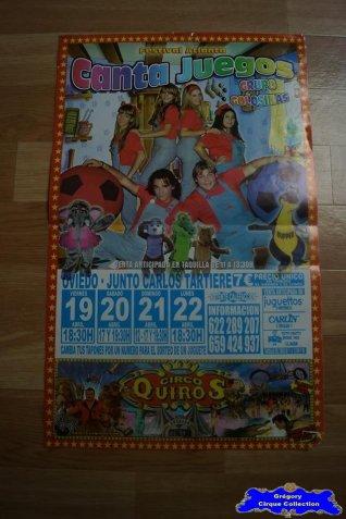 Affiche magasin du Circo Quiros (n°542)