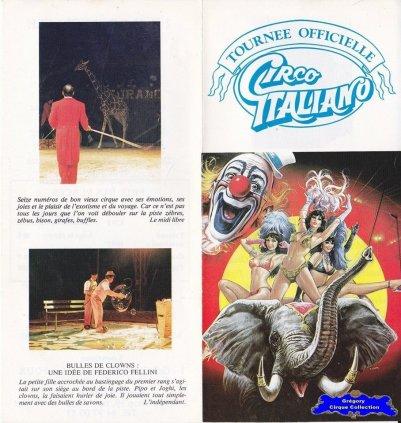 Flyer du Cirque Italiano (Circo Italiano) (n°1214)