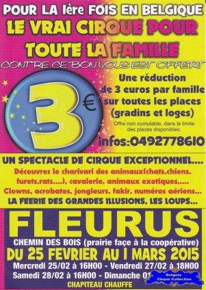 Flyer du Cirque Franco Belge-2015 (n°1189)