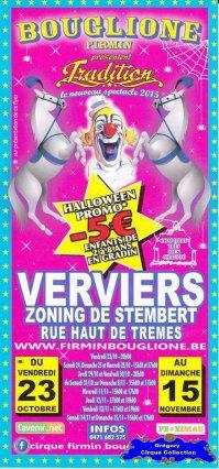 Flyer du Cirque Bouglione (Firmin)-2015 (n°1185)